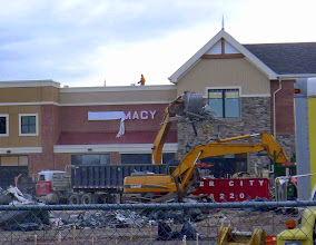 Photo: Last day of cleaning up debris from the old store...