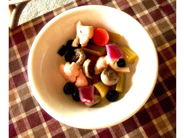 Pickled/marinated Fresh Veggies And.... Recipe
