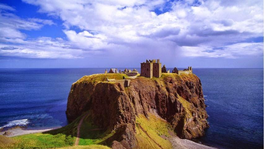 Замок Дуннотар у Стоунхэвена – настоящая гордость Шотландии