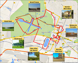 Photo: Bike route 17 km (alternative route 18 km) - Cycling guide in Versailles park and city by veloiledefrance.com