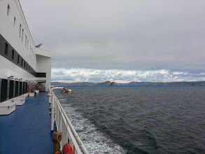 Photo: Ferry leaving Placentia Newfoundland heading for Sydney Nova Scotia
