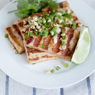 Grilled Asian Tofu Bowls.