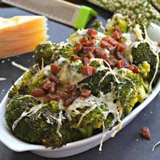 Bacon Asiago Roasted Broccol.