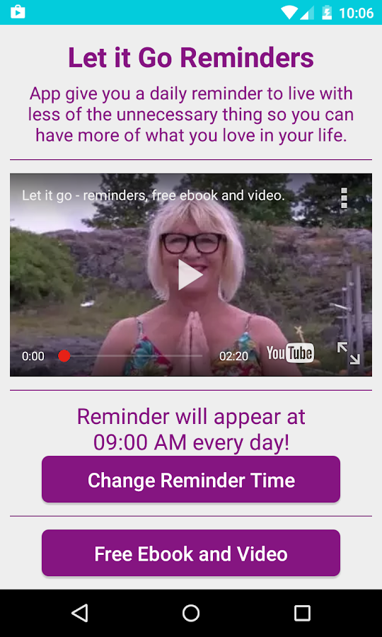 Let it Go Reminders-skjermdump