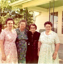 Photo: Mary Ratts, Edith Kimberlin, Willa Brazier, Julia Robison. All were daughters of our Uncle Will Bottorff
