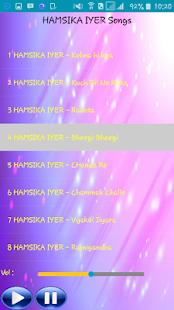 All Songs HAMSIKA IYER - náhled