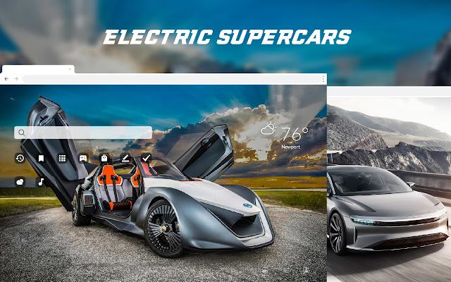 Electric Supercars HD Wallpaper Theme