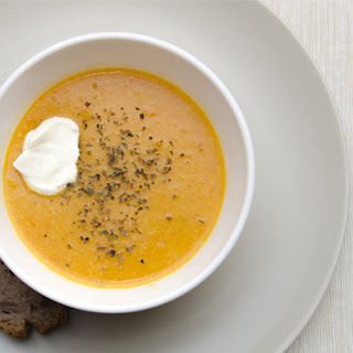 Spiced Carrot and Red Lentil Soup