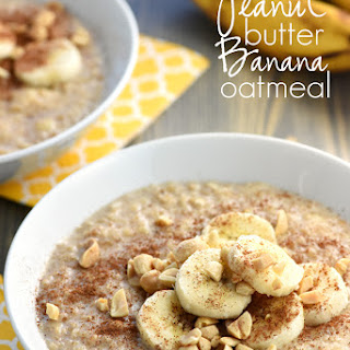 Quick Peanut Butter Banana Oatmeal