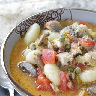 Creamy Chicken Cacciatore Stew.