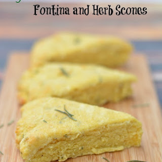 Easy Gluten Free Fontina Cheese and Herb Scones.