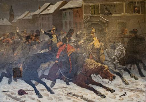 Charge des dragons du général de Briche contre un détachement de Cosaques à Rambervillers, le 9 janvier 1814.