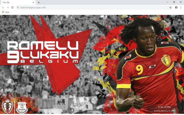 Romelu Lukaku New Tab & Wallpapers Collection