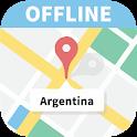 Argentina offline map icon