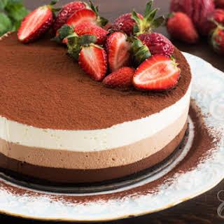 No-Bake Triple Chocolate Mousse Cake.