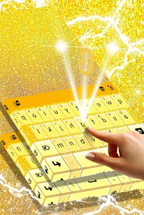 Glitter Gold Keyboard - náhled