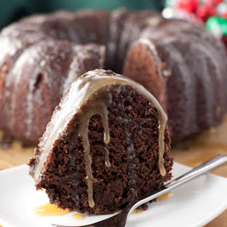 Hot Chocolate Coffee Rum Cake.