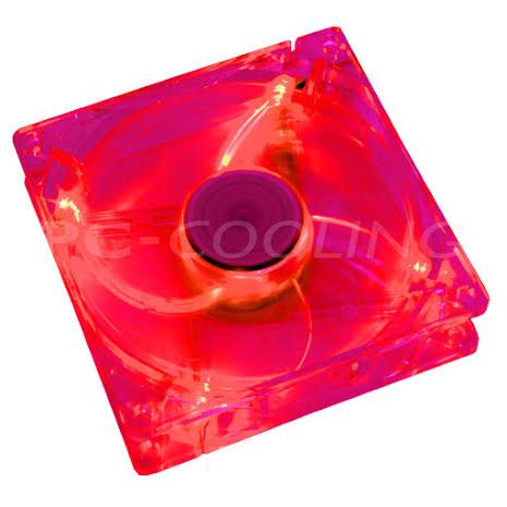 Cooltek vifte m/rød LED, 120x25
