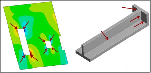 ANSYS Два примера острых внутренних углов