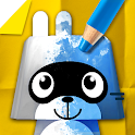 Pango Paper Color - colouring book game for kids icon