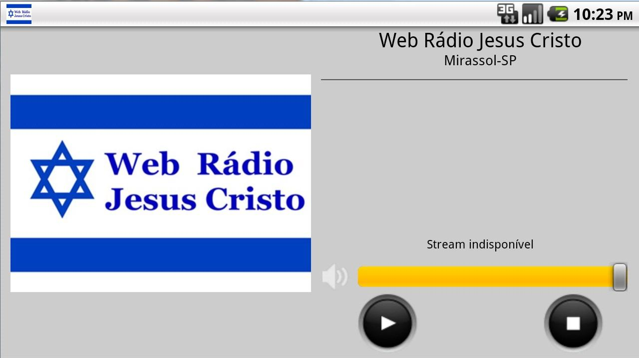 Web Rádio Jesus Cristo- screenshot