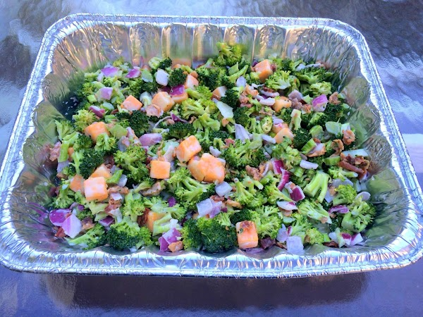 August 22, 2015 -- Made this tried & true salad for a block party...