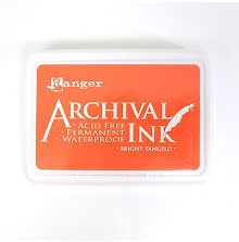 Ranger Archival Ink Pad - Bright Tangelo