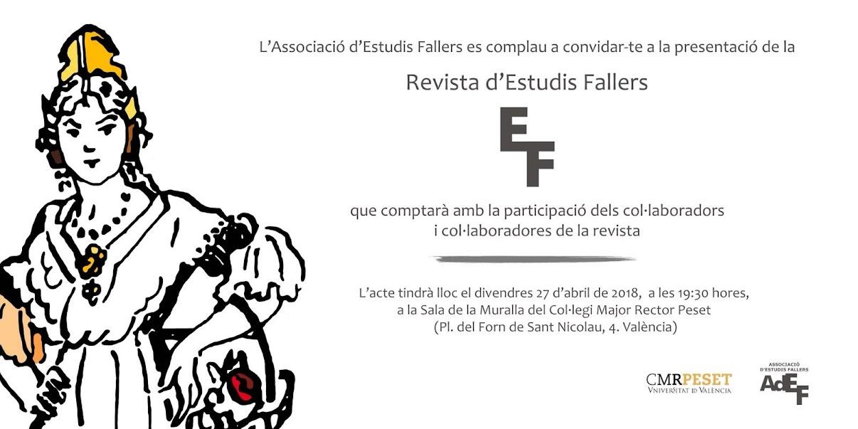Presentació del número 23 de la Revista d'Estudis Fallers.