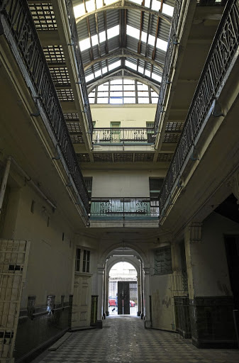 The interior of Somerset House, the second building ever built in Joburg's Gandhi Square.