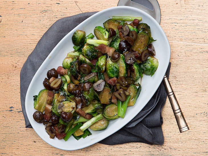 Wok-Fried Brussels Sprouts and Bacon with Crispy Chestnuts Recipe ...