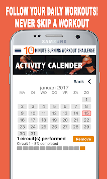 10 Minute Workout Challenge Home Exercise Poster