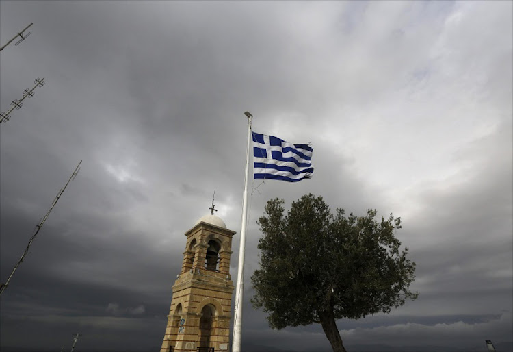 A Greek flag. Picture: REUTERS