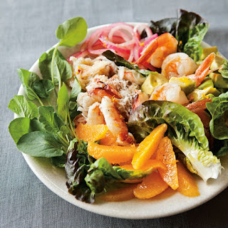 Crab and Shrimp Salad with Avocado and Oranges.