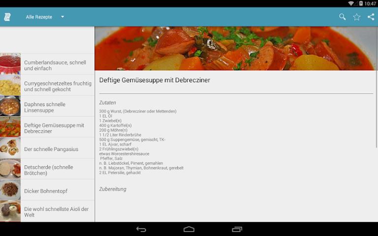 android Einfache & Schnelle Rezepte Screenshot 5