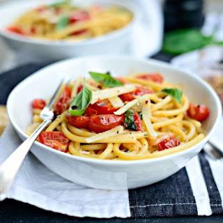 Pasta + Fresh Cherry Tomato Sauce