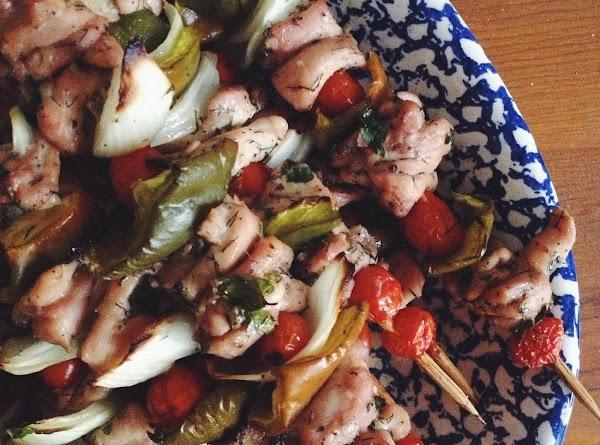 Chicken Souvlaki And Orzo Recipe