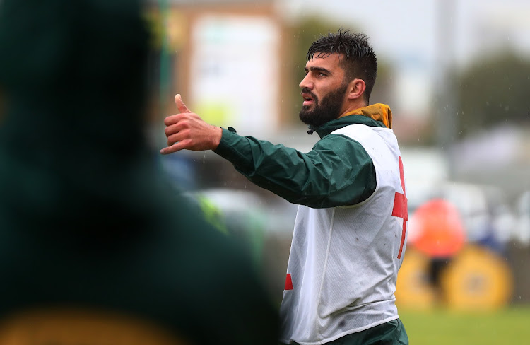 Damian de Allende during the Springboks Open Training Session at Ravensmead, Cape Town on August 6 2018.