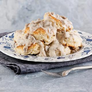 Buttermilk Biscuits with Sausage Gravy.