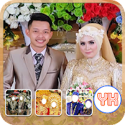 Hijab Wedding Couple Photo Editor