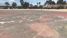 La pista deportiva del centro en 2019.