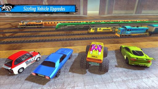 Train vs Car Racing 3D  captures d'u00e9cran 2