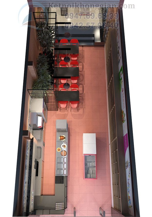 thiết kế siêu thị mini diện tích 110m2