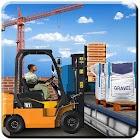 construcción simulador ciudad camión aparcamento icon