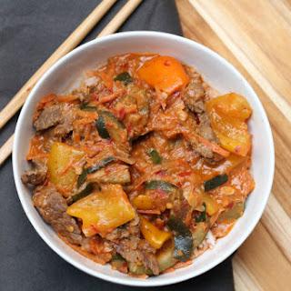 Bad Days and Comfort Food, Beef Panang Curry.
