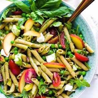 Spring Pasta Salad with Basil Vinaigrette.