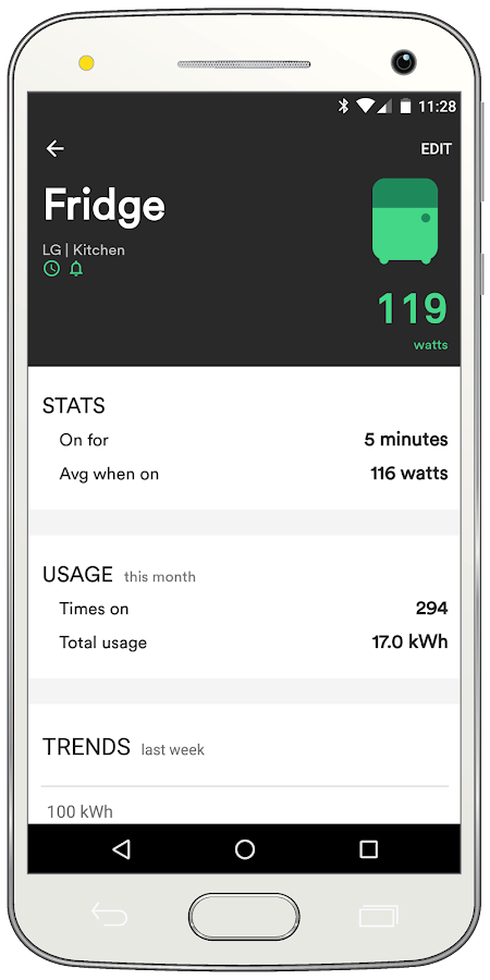 Sense Home Energy Monitor- screenshot
