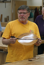 Photo: Richard Webster talks about his leaf plate.
