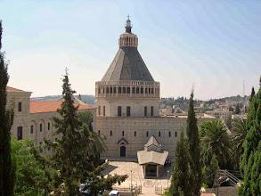 Photo: Nazareth con la Basilica dell'Annunciazione  - Basilica of the Annunciation in Nazareth