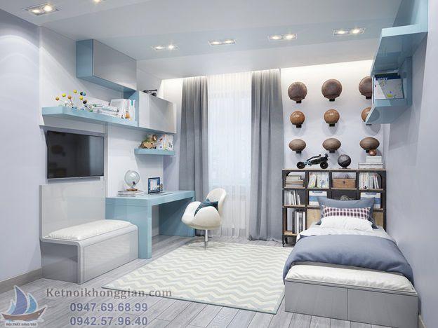thiết kế phòng ngủ cho bé hiện đại