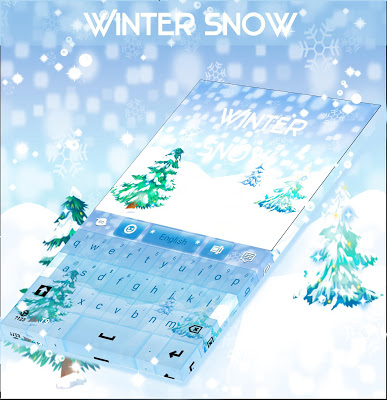 Winter Snow For GO Keyboard - screenshot